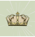 crown with rays vector image
