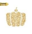 Gold glitter icon of gourd isolated on vector image