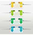 Colorful presentation boxes vector image