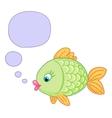 cute baby fish draw vector image