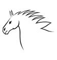 horse head contour vector image