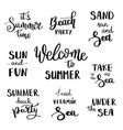 summer hand drawn brush letterings summer vector image