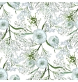 Watercolor gypsophila seamless pattern vector image