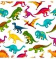 Cartoon dinosaurs children seamless pattern vector image vector image