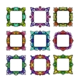 Set of 9 square frames vector image