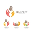 sport and people logo combination Fitness vector image