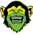 Monkey face logo vector image