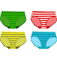 Set of Childrens Underpants vector image vector image