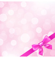 Pink Ribbons And Bokeh vector image