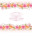 Border of flowers in vintage style vector image