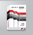 Book Cover Digital Design Minimal Style Template vector image vector image