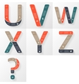 font infographic diagram with letters vector image