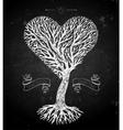Tree crown like heart on black vector image