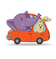 elephant and hare vector image vector image