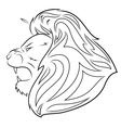 Lion head 5 vector image