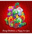 Collection different festive gift boxes vector image