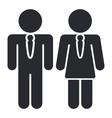 worker elegant icon vector image vector image