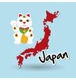 Flat of japan design vector image