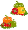 Set of peppers and tomato vector image