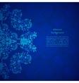 Blue floral background For presentation vector image