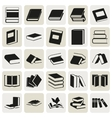 black book simple icons set vector image