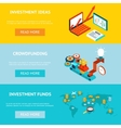 Business banners Crowdfunding investment ideas vector image
