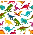 Cartoon dinosaurs children seamless pattern vector image