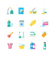 cleaning home services and household tools vector image