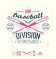College baseball division emblem vector image