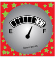 electric car fuel gauge with battery icon vector image