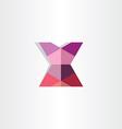 female mini skirt origami icon vector image