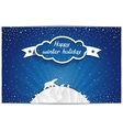 Just winter greeting card with polar bears family vector image