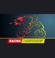 racing championship vector image