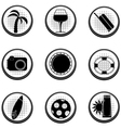Set of black icons EPS10 vector image