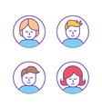 set teamwork communication business to social vector image