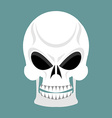 Skull with grin skeleton head isolated cranium in vector image