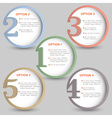 Round numbered banners vector image vector image