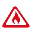 symbol fire equipement service emergency vector image