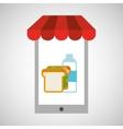 shopping online sandwich vector image