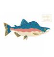 Humpback Salmon vector image