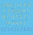 spring yellow alphabet vector image