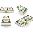 set of two dollars banknotes vector image