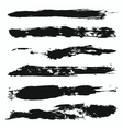 Grunge Brushes Set 4 vector image