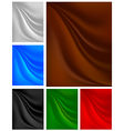 Set backgrounds with pleats on the fabric vector image