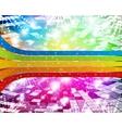 rainbow-disco vector image