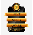 music award design vector image