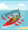 canoeing water extreme sports isolated design vector image