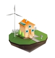 Environmentally friendly house vector image