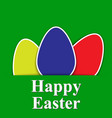 green paper easter egg card vector image