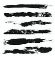 Grunge Brushes Set 4 vector image